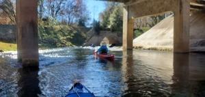 [Rapids under US 27 bridge, 13:17:37, 29.953, -82.785691]