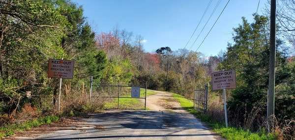 [Entrance, Quitman Land Application Site]