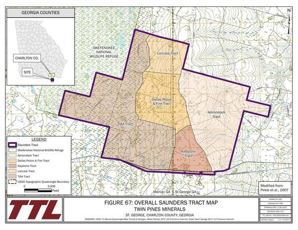 [Figure 67: Overall Saunders Tract Map]