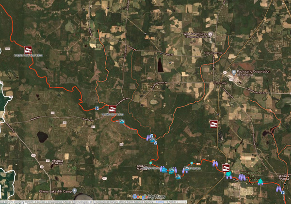[Map: Knights Ferry, Nankin, and State Line Boat Ramps]