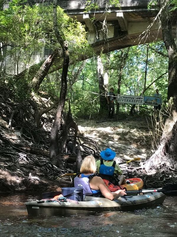 [Helen Chaney: Suwannee Riverkeeper under Stone Bridge]