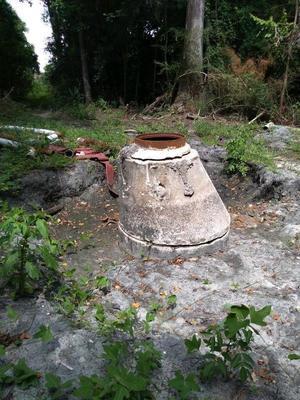 [Manhole dug down]
