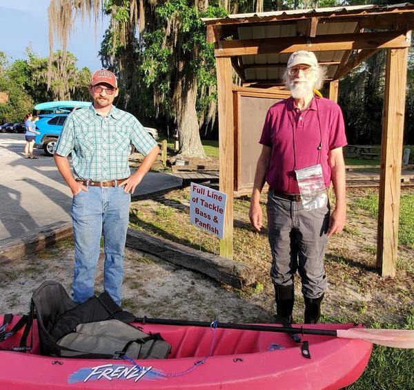 [Turtleman Chris Adams, Suwannee Riverkeeper John S. Quarterman]