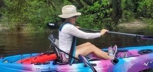 [A comfortable paddler, Sonia Velez-Hoy]