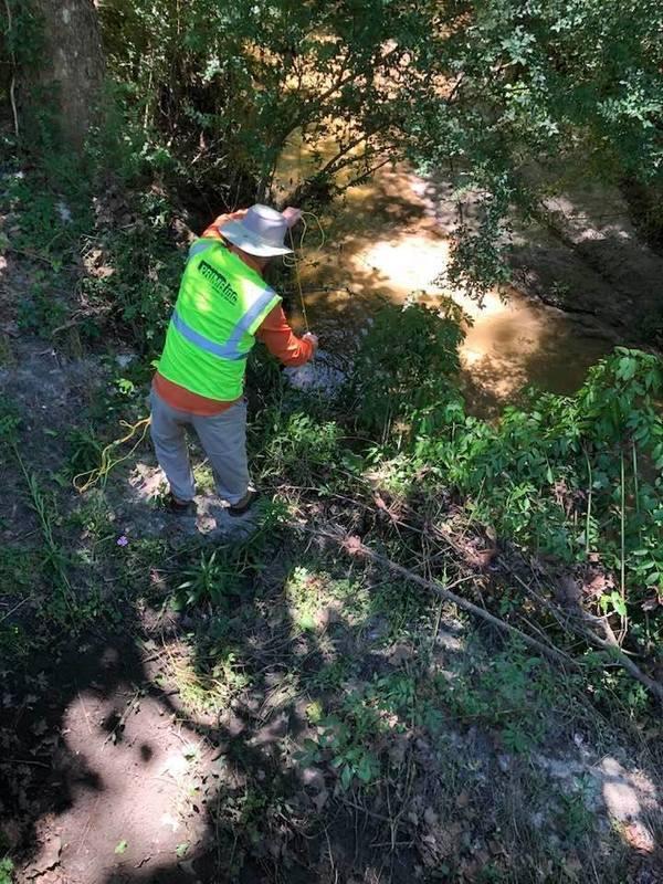 [Conn Cole testing Okapilco Creek]