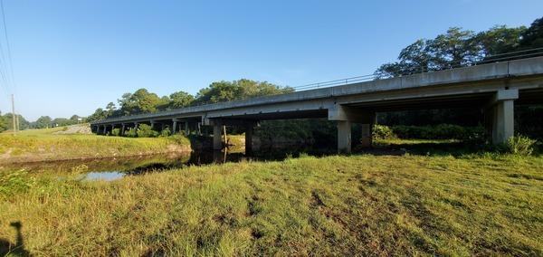 [Hagan Bridge, 3.2' (123.5' NAVD88) on Skipper Bridge Gauge]