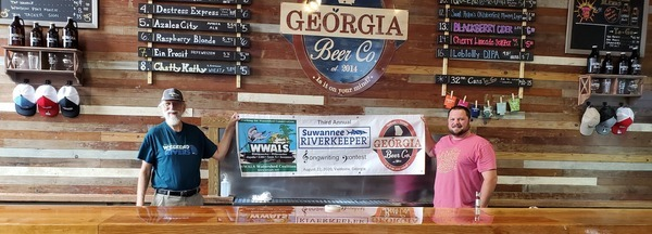 [Georgia Beer Company sponsor banner Suwannee Riverkeeper Songwriting Contest]