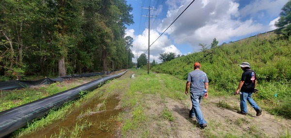 [Lowndes County force main pipe on power line right of way]