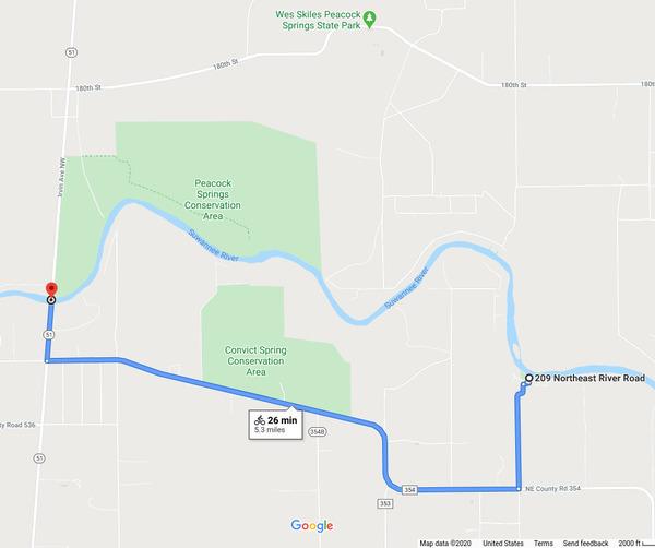 [Bike Map: googlemaps]
