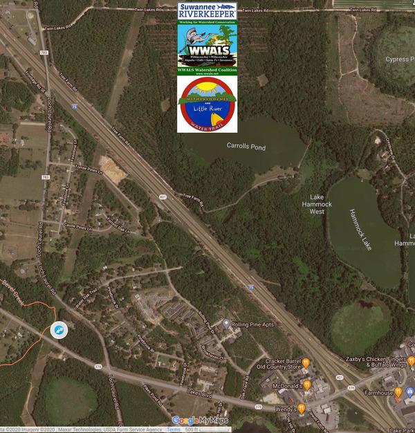 [Map: Bevel Creek Lift Station]