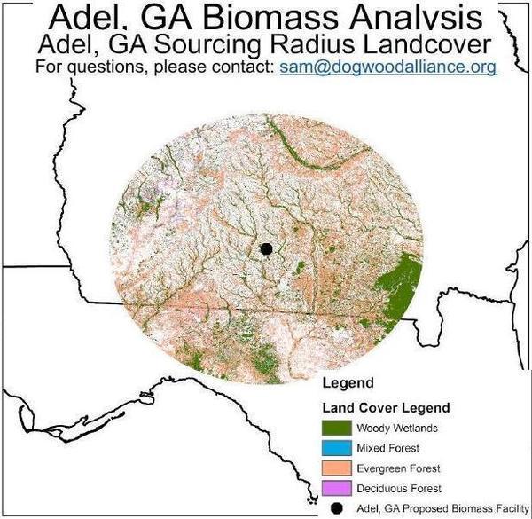 [Adel, GA, pellet plant sourcing radius]