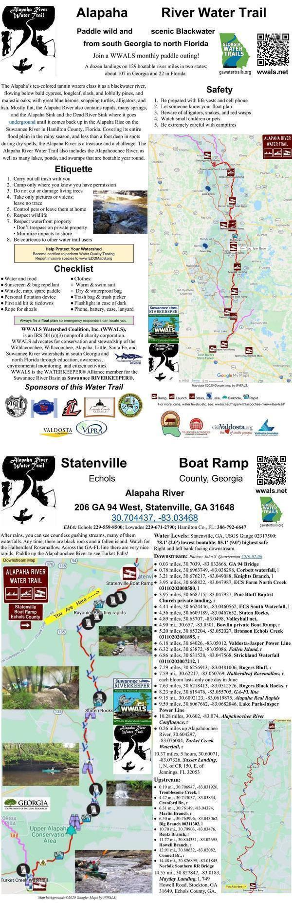 [Alapaha River signpost: Statenville Boat Ramp]