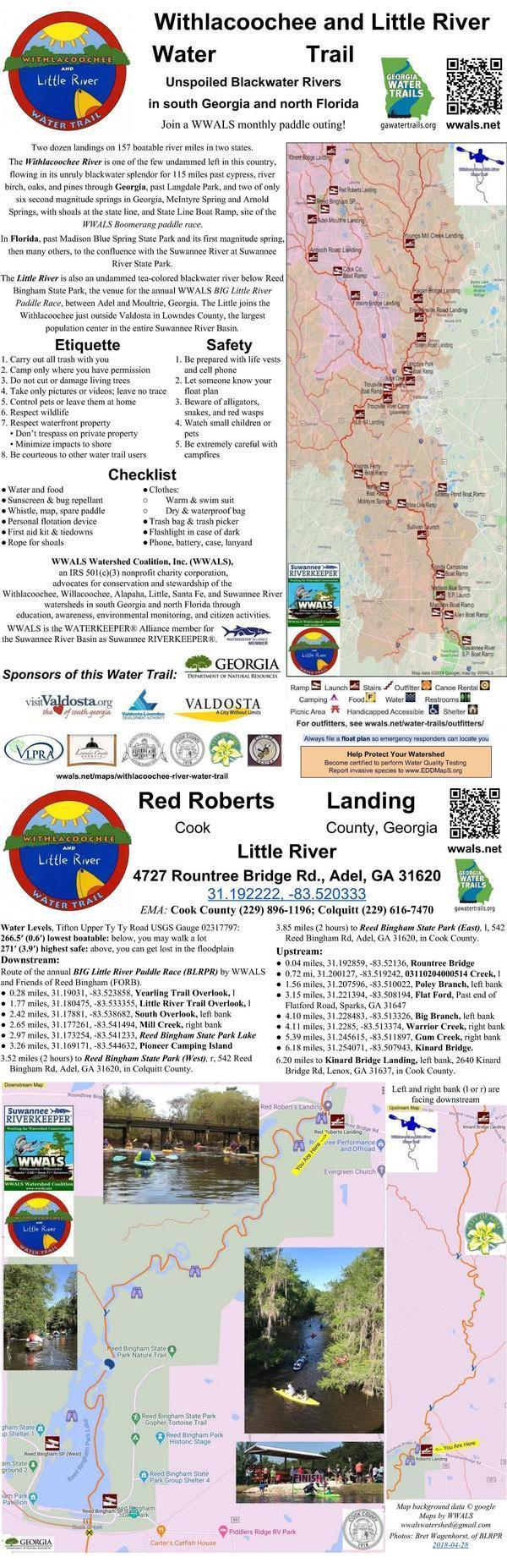 [Little River signpost: Red Roberts Landing]