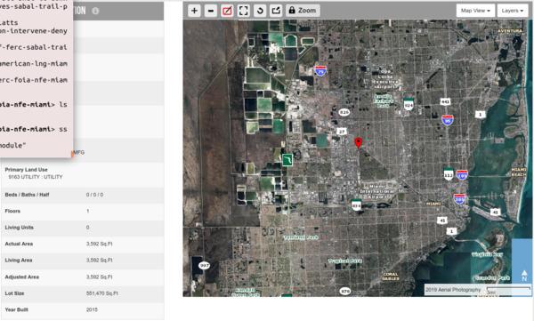 [NFE Miami facility in Miami-Dade Property Appraiser]