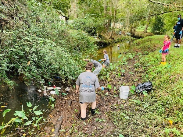 [River Clean-up at Twomile Branch]