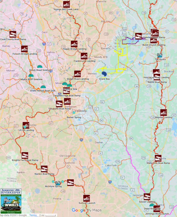 [Map: All landings in Lowndes County]