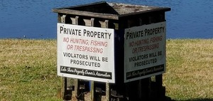 [Private Property sign, 10:23:29, 30.8521530, -83.3288700]