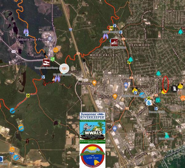 [map: Sugar Creek]