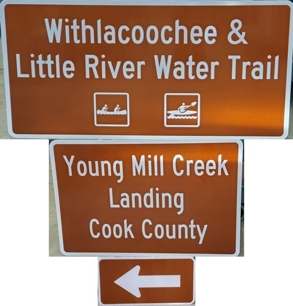 [Youngs Mill Creek Landing, left]