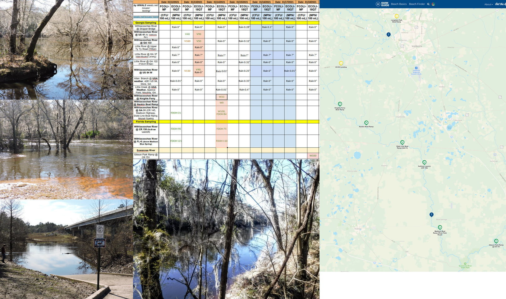 [Knights Ferry, Nankin, State Line, chart, Gibson Park, Swim Guide]