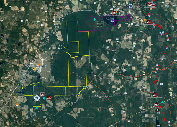 [Map: Grand Bay WMA and Banks Lake NWR by WWALS]