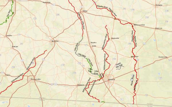 [Map: Withlacoochee TMDL]