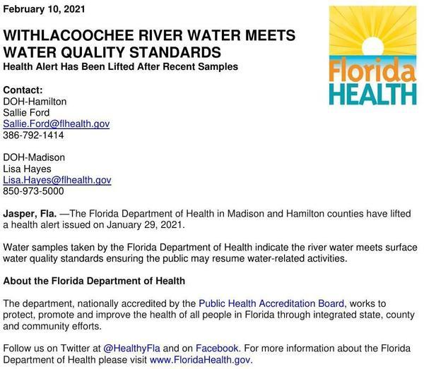 [Lifting Withlacoochee River Advisory 2021-02-10]