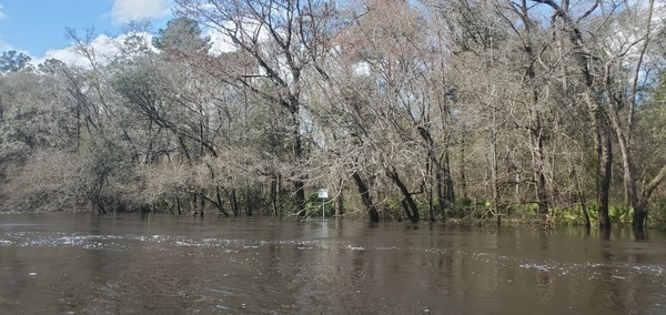 [Sabal Trail sign in water, 12:38:08, 30.7954320, -83.4524574]