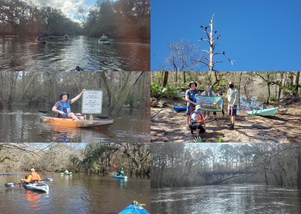 [Left: Smooth paddling, Mayor at WWTP Outfall, Sunny overhanging limbs, Buzzards, Lunch stop with Russell's turtle, Spook Bridge]