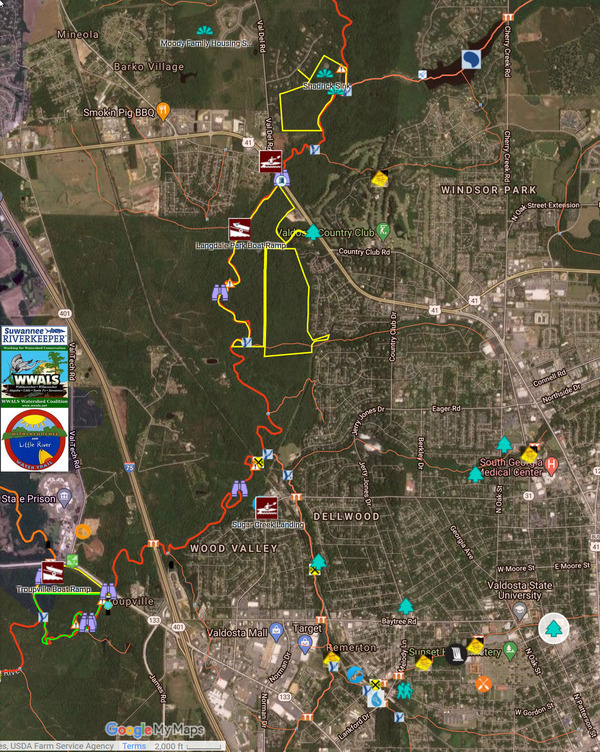 [Map: Drexel Park to Withlacoochee River]