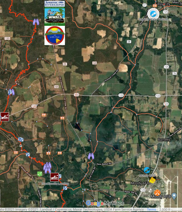 [Map: Ray City, Cat Creek, Withlacoochee River]