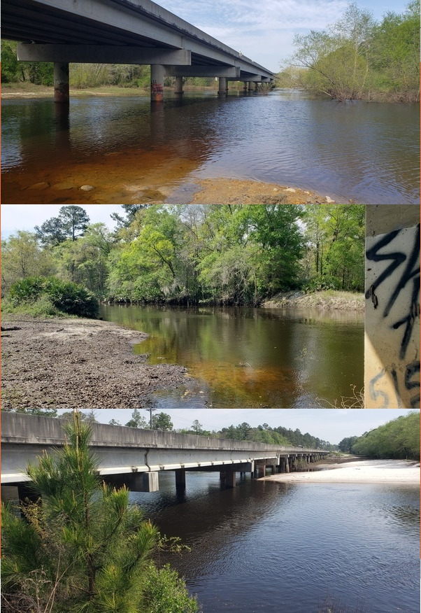 [Photos: Elizabeth Brunner, GA 122, Folsom Bridge, Little River; Hagan Bridge, Withlacoochee River; Capt. Henry Will Jones Bridge, Alapaha River]