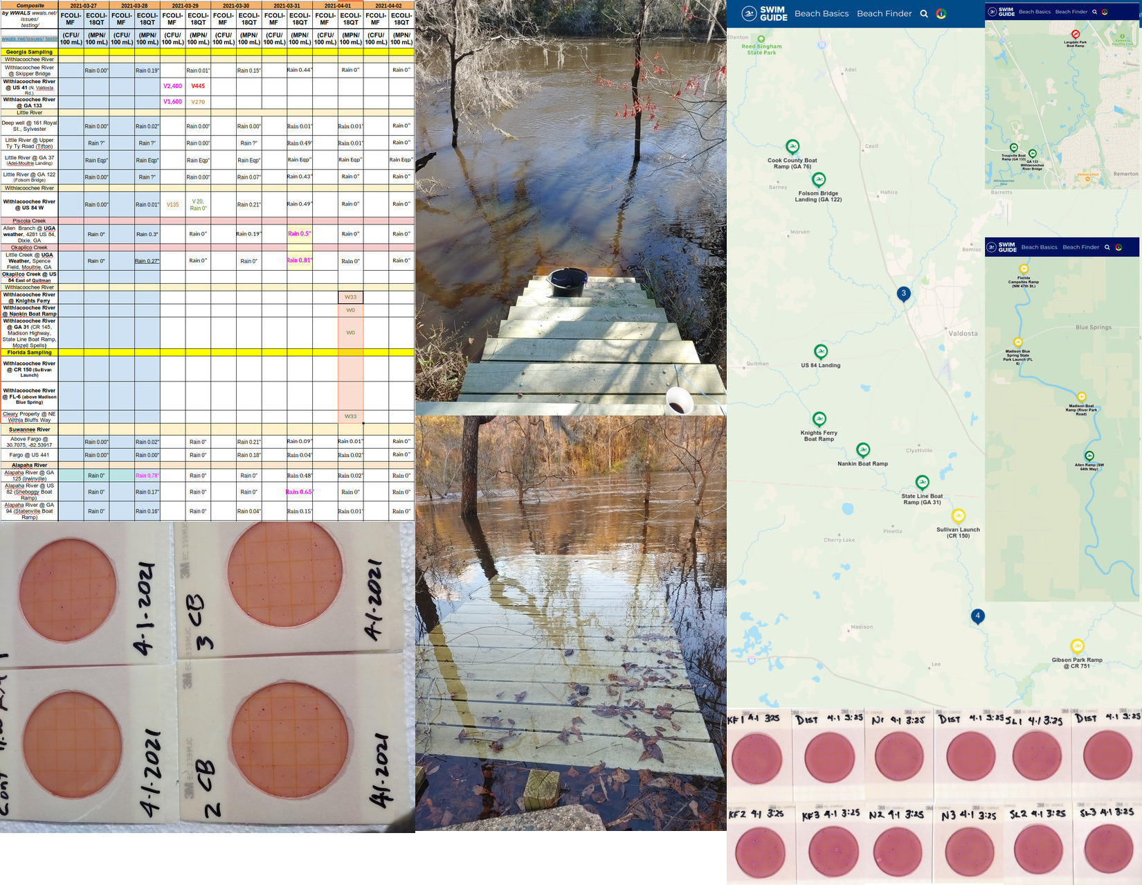 [Clean results, Withlacoochee River down and up, Swim Guide]