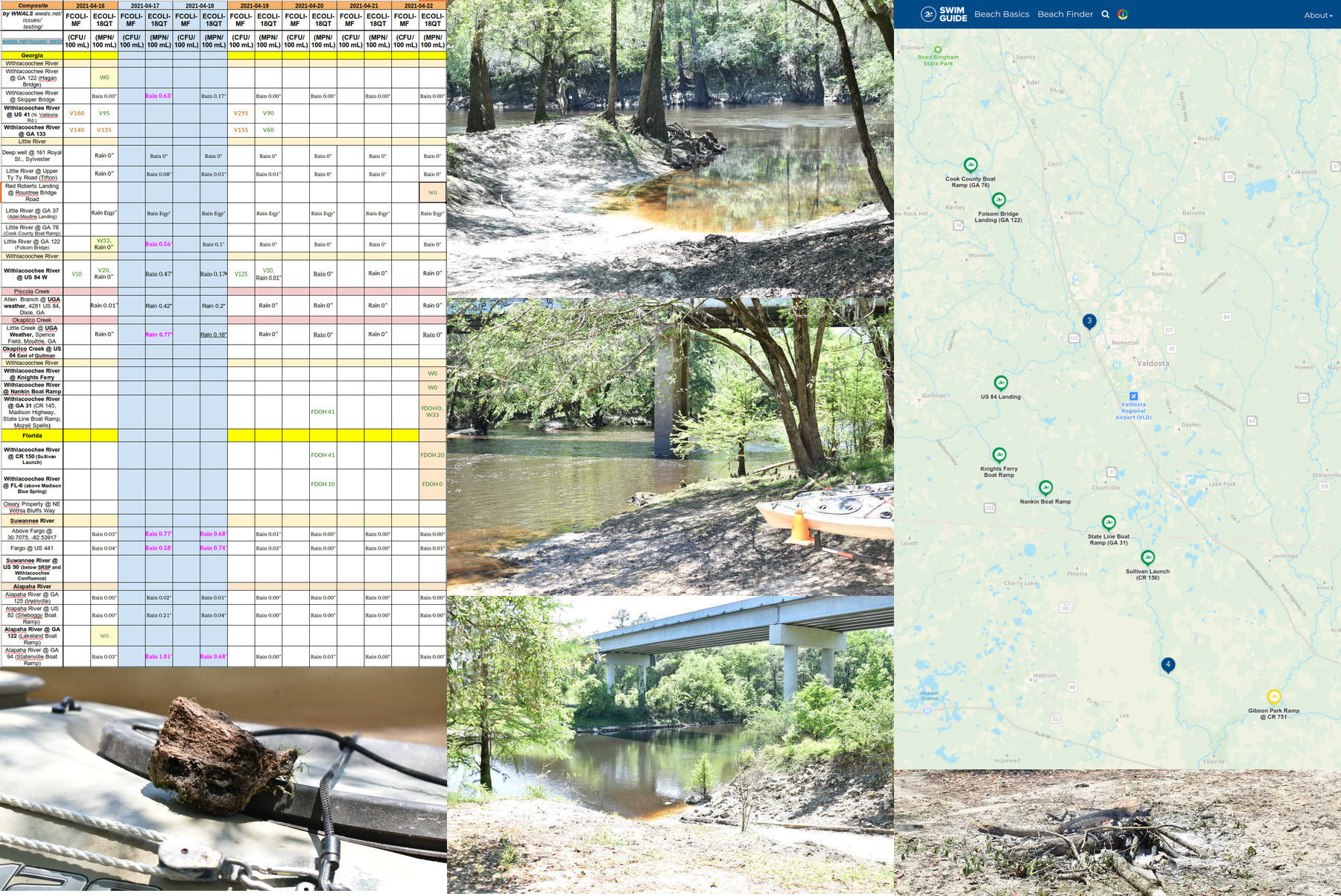 [Clean week, agate, Withlacoochee River, Little River @ Red Roberts to Suwannee River Clean]