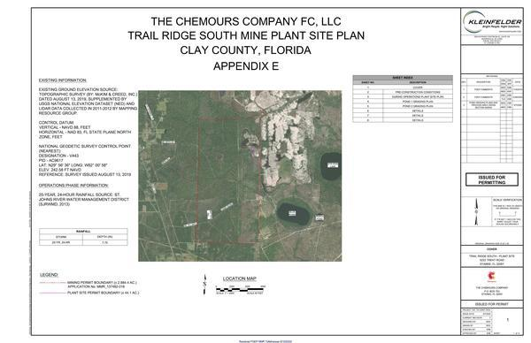[Appendix E: Plant Site Development Plans]