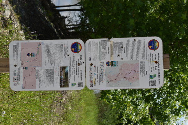 [Water Trail signs, State Line Boat Ramp 2021-04-26]