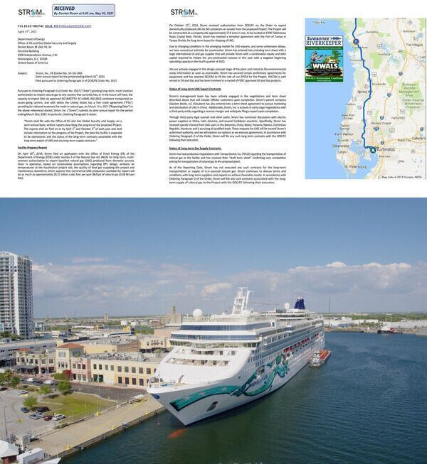 [Late Report, Crystal River to Tampa, Cruise ship]