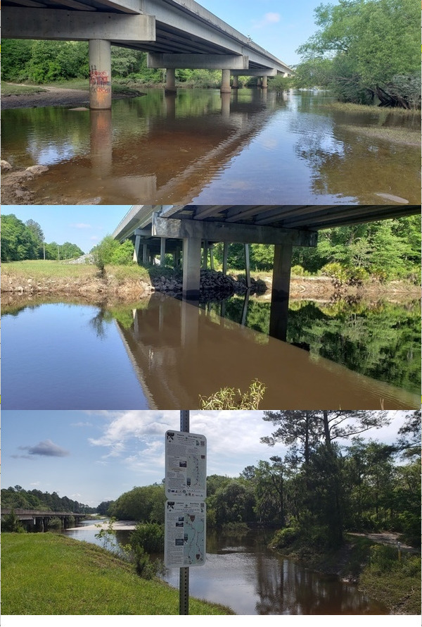 [Little River @ Folsom Bridge, Withlacoochee River @ Hagan Bridge, Alapaha River @ Lakeland Boat Ramp]