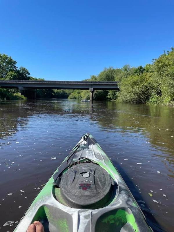 [U.S. 41 bridge from upstream]