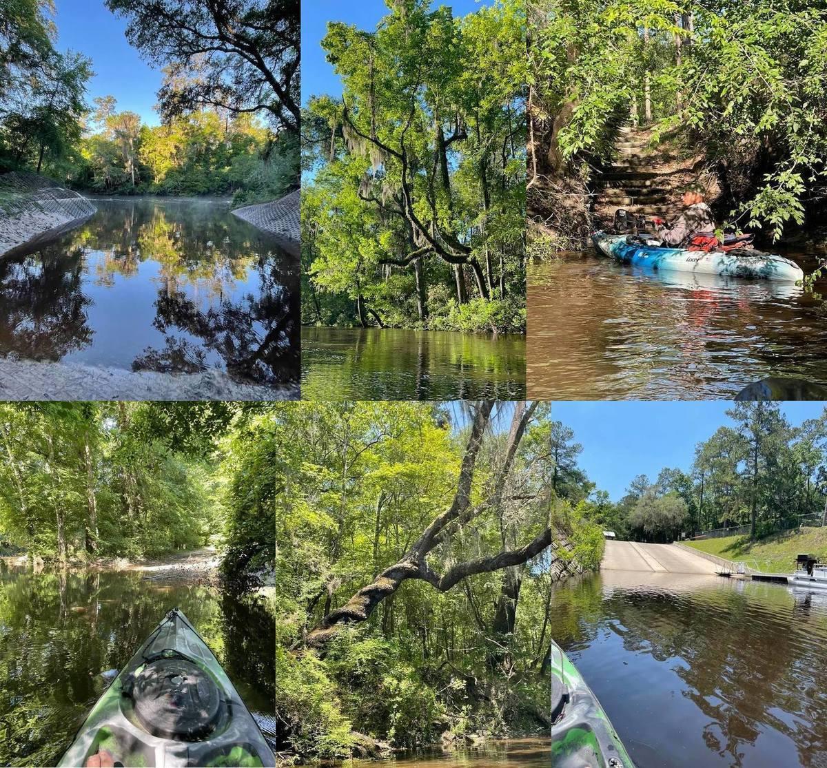 [Sasser Landing, sun tree, Jennings Bluff Landing, US 41 Alapaha River Landing, twisted tree, Gibson Park Boat Ramp]