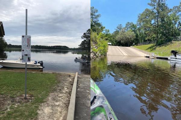 [Reed Bingham State Park East Boat Ramp (Dan Phillips), Gibson Park Boat Ramp (Bobby McKenzie)]