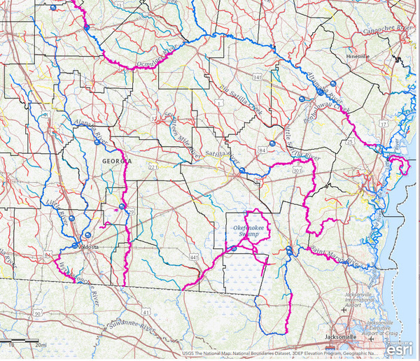 [Suwannee River Basin in Georgia]