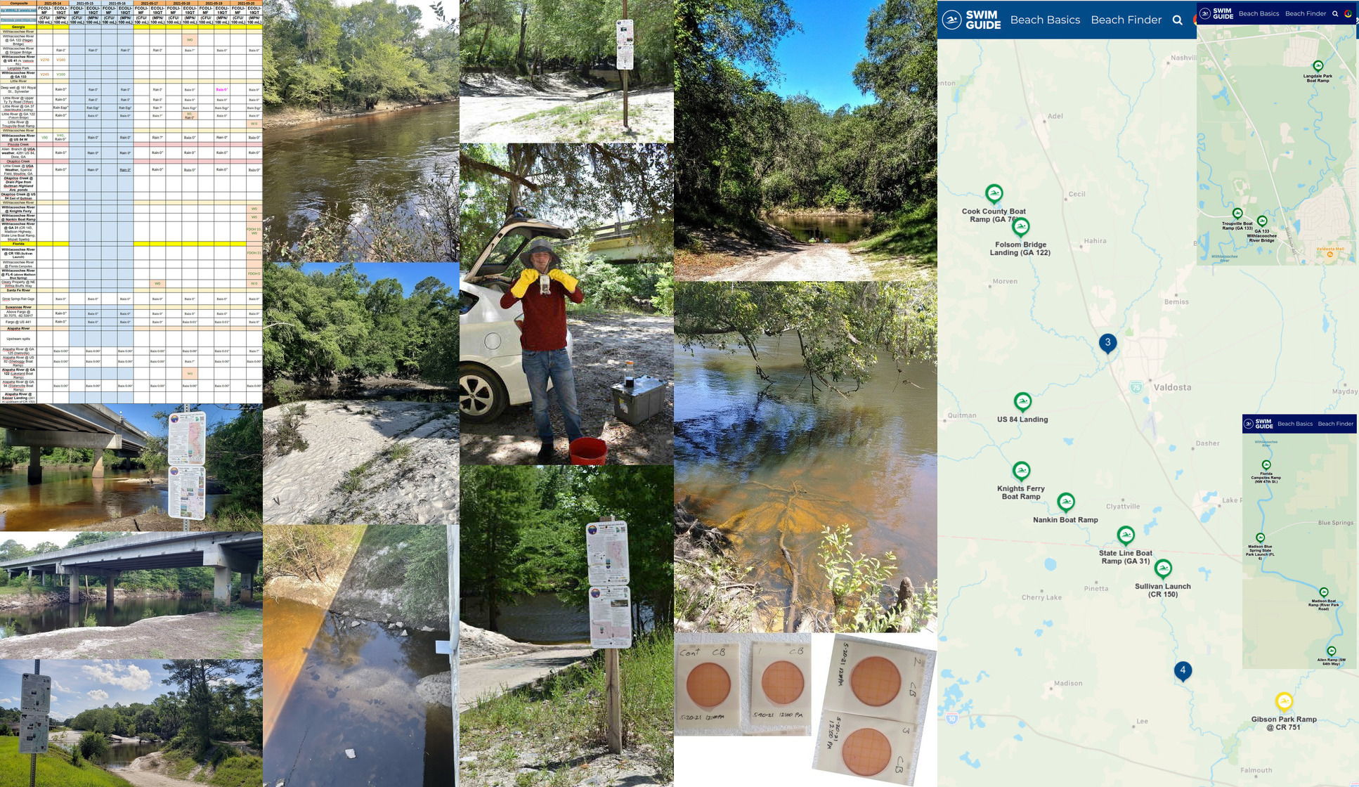 [All clear, many samples, three rivers, Swim Guide]