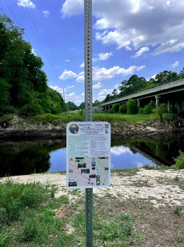 [Hagan Bridge Landing @ GA 122, Withlacoochee River, Lowndes County, GA]