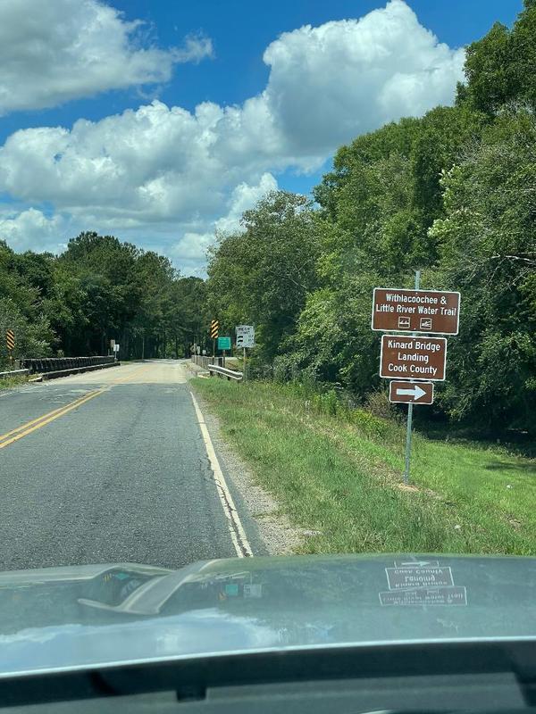 [Kinard Bridge Road Sign East, Little River, Cook County, GA]