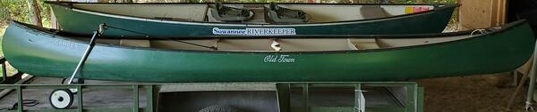 [New canoe, Suwannee Riverkeeper vessel]