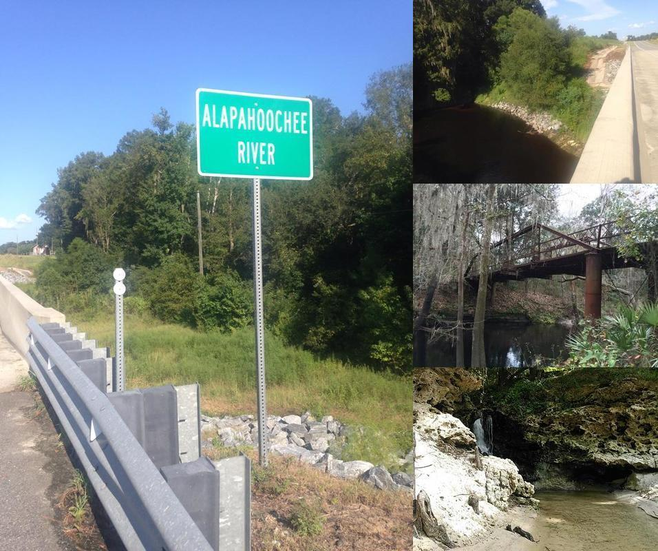 [Alapahoochee River, GA 135 Bridge, Swilley Road Bridge, Turket Creek waterfall]