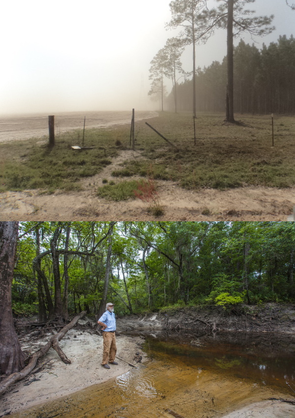 [Photo: Chris Mericle, Dust storm in Hamilton County, Florida, March, 2014, Suwannee Riverkeeper by NBC News, June, 2021]