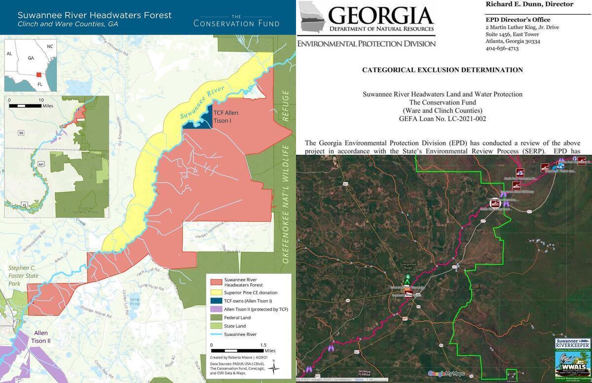 [Suwannee River Headwaters Forest, GA-EPD Determination, Suwannee River in Georgia]