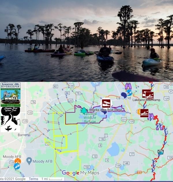 [Paddlers, Map to Banks Lake Boat Ramp]